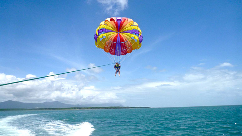 Parasail, Jet Ski and Bumper Tubing Adventure Package - Cairns