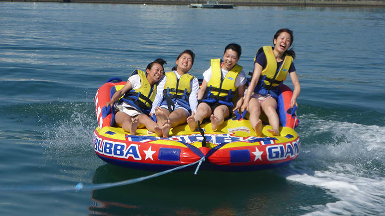 Bumper Tube Ride - Trinity Inlet, Cairns