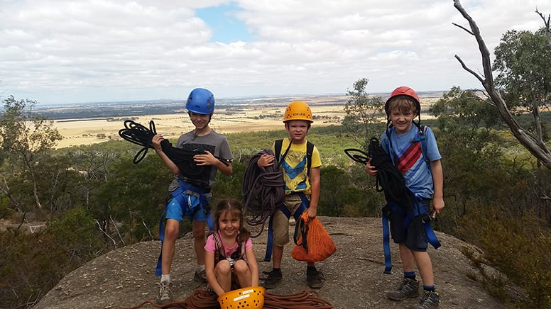 Rock Climbing and Abseiling School Holiday Tour for Kids -You Yangs, VIC