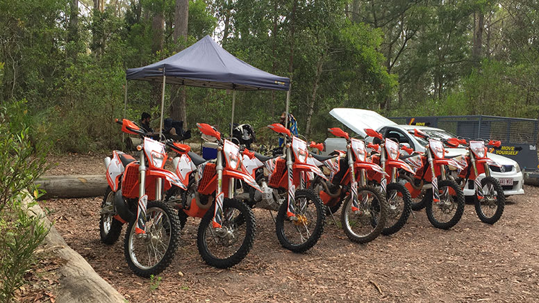 Self-Guided Motorbike Trail Ride - Mapleton National Park, Sunshine Coast - For 3