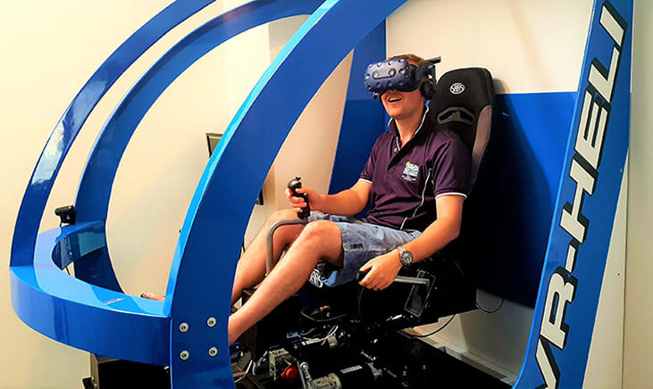 Full Motion VR Helicopter Simulator, 15 Minutes - Melbourne