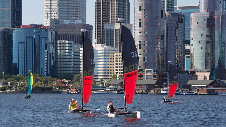 Hobie Wave Catamaran Hire, 1 Hour - Perth - For up to 4