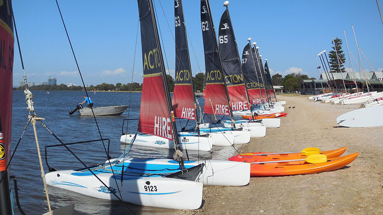 Hobie Wave Catamaran Hire, 2 Hours - Perth - For up to 4