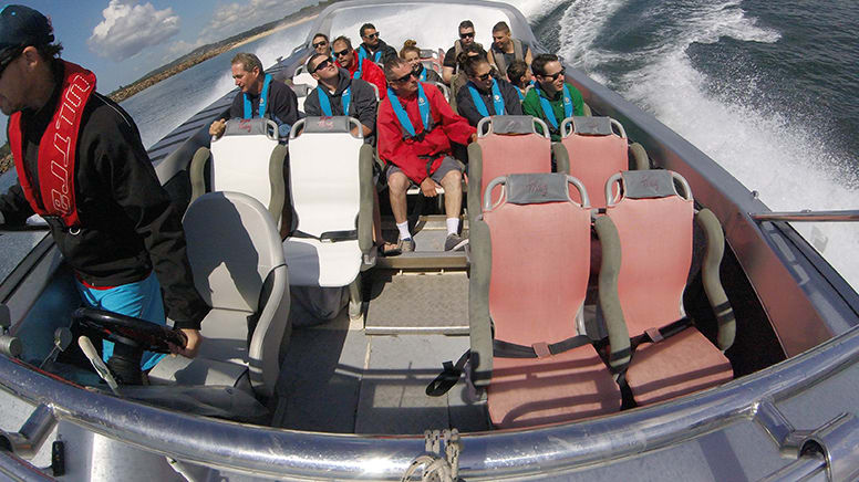 Open Ocean Jet Boat Extreme Thrill Ride, 1 Hour - Central Coast