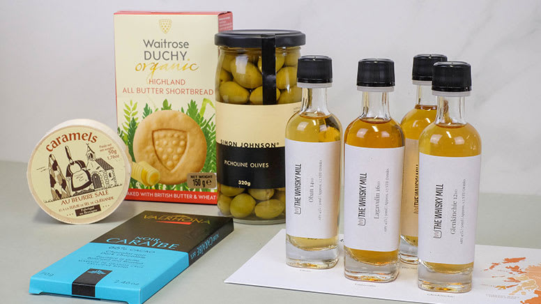 Virtual Whisky Tasting with Whisky Package and Food Hamper