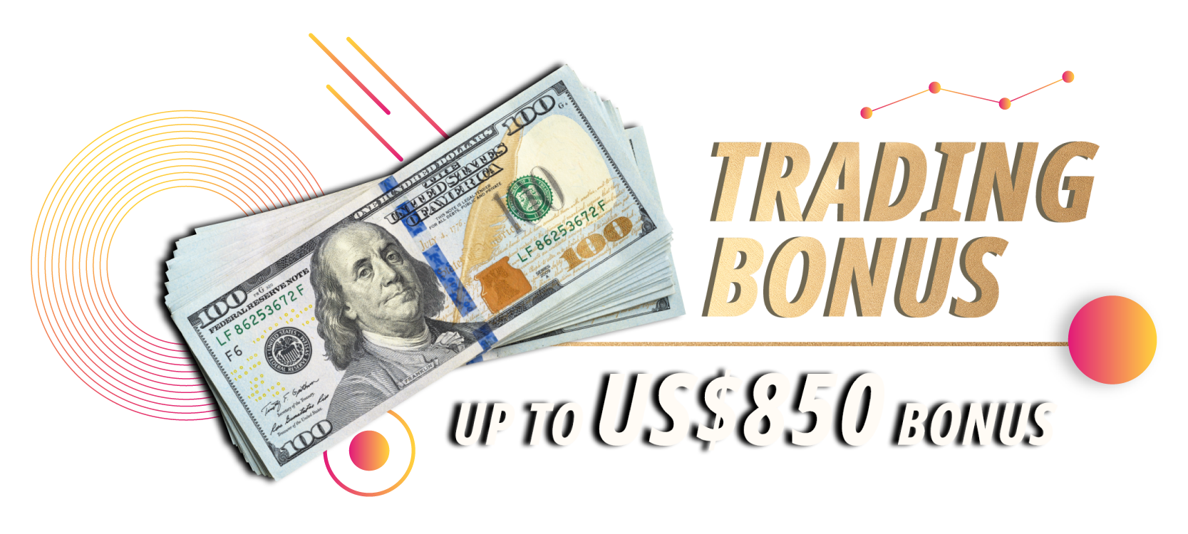 Trading Bonus Get up to US$850 Bonus