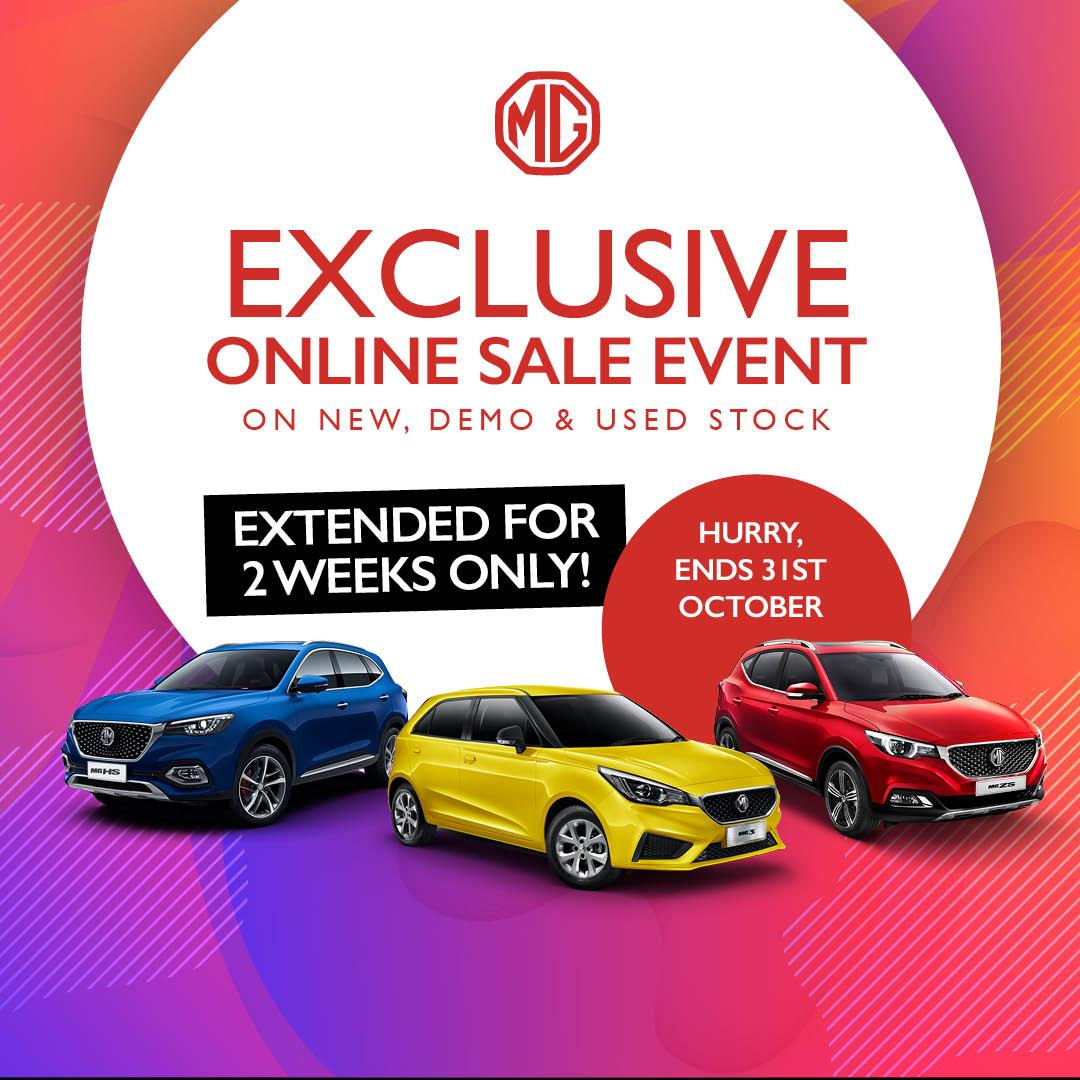 Exclusive online sale ends 31st Oct