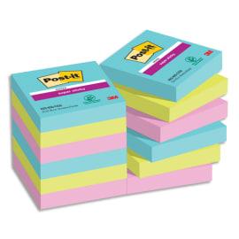 POST-IT Lot de 12 blocs notes Super Sticky Post-it® Collection MIAMI 47,6x47,6 mm, 90 feuilles. photo du produit