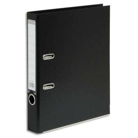 Classeur à levier en polypropylène intérieur/extérieur. Dos 5 cm. Format A4. Coloris Noir. photo du produit