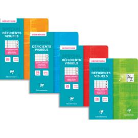 CLAIREFONTAINE Répertoire piqûre 17x22cm 96 pages Séyès en carte pour Déficient Visuel. Coloris assortis photo du produit