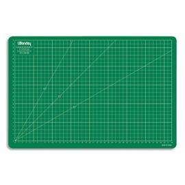 WONDAY Plaque de découpe verte 450x300x3mm. Résistante à la coupe, surface quadrillée photo du produit