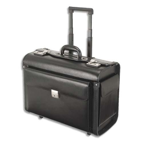 ALASSIO Pilot case classique Noir en cuir - Dimensions : L48,5 x H38,5 x P23,5 cm photo du produit Principale L