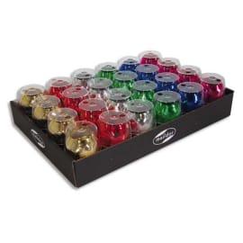 CLAIREFONTAINE Plateau de 24 bolduc œufs brillant 10mx7mm. 6 coloris classiques assortis photo du produit