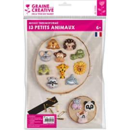 GRAINE CREATIVE Lot de 13 moules animaux avec 9 broches et 1 bande aimantée photo du produit