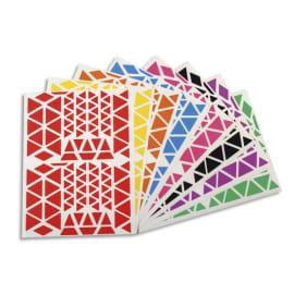 APLI Pochette de 18 planches de Gommettes triangles, tailles et couleurs assorties photo du produit