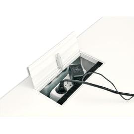 GAUTIER OFFICE Top access Yes Blanc, plateau de maintien, amortisseur L27 x H9 x P13 cm pour table haute photo du produit