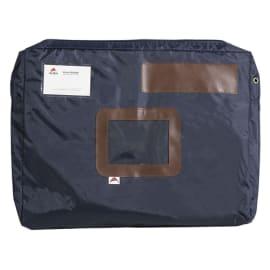 ALBA Pochette navette Bleue en PVC à soufflet dimensions : 42x32x5cm photo du produit