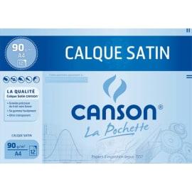 CANSON Pochette de 12 feuilles papier calque satin 90g A4 Ref-17154 photo du produit