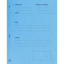 EXACOMPTA Paquet de 25 dossiers de plaidoirie pré-imprimés, en carte 265g. Coloris Bleu. photo du produit