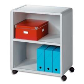 PAPERFLOW Desserte modulable 2 cases Gris, 2 espace rangement pour classement horizontal et vertical photo du produit