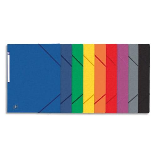 OXFORD Chemise simple à élastique TOP FILE, carte lustrée 5/10e, 390g. Etiquette sur la tranche. Assortis photo du produit Principale L