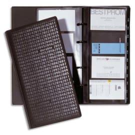 DURABLE Porte-cartes Visifix Centium pour 200 cartes de visite - 12 touches A-Z - L145 x H255 mm - Noir photo du produit