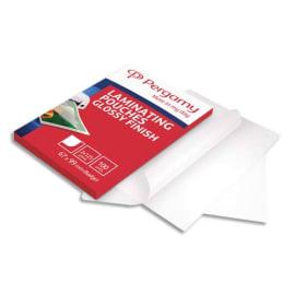 PERGAMY Boîte de 100 pochettes de plastification 2x125 microns 67x99mm 900129 photo du produit