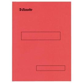 ESSELTE Boite de 100 sous-dossier en carton Kraft, 1 rabat. Format A4. Coloris Rouge photo du produit