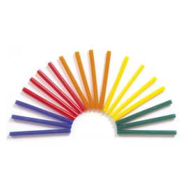 O COLOR Sachet de 25 bâtons de colle couleurs assorties pour pistolet, diamètre 7 mm, longueur 10 cm photo du produit