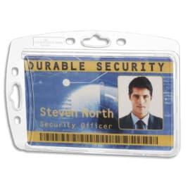 DURABLE Boîte 10 Porte-badges fermé pour 1 carte format portrait ou paysage - L85 x H54 mm - Transparent photo du produit