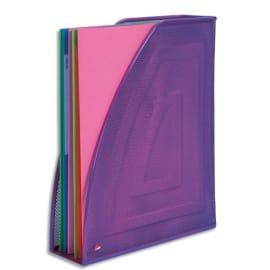 ALBA Porte-revues en métal Mesh - Dimensions : L26 x H33,5 cm, Dos 8cm coloris Violet photo du produit