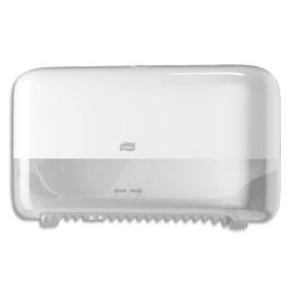 TORK Distributeur double papier toilette en rouleau Mid Size T7 Blanc, sans mandrin, L36 x H20,7 x P13 cm photo du produit