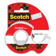 SCOTCH Ruban adhésif Crystal transparent 19mmx15m, sur dévidoir photo du produit