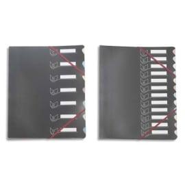 EXTENDOS Trieur couverture en polypropylène 12 compartiments Noir photo du produit