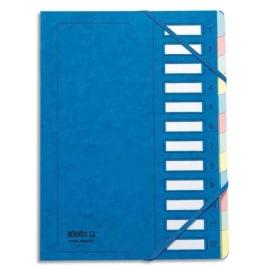 EMEY Trieur EMEY JUNIOR en carte avec système clip, 12 compartiments. Coloris Bleu. photo du produit