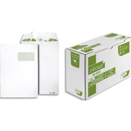 GPV Boîte de 250 pochettes recyclées extra Blanches Erapure, formatC4 229x324mm fenetre 50x100mm 90g 2831 photo du produit