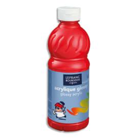 LEFRANC & BOURGEOIS Flacon de 500ml gouache Glossy Rouge Vif photo du produit