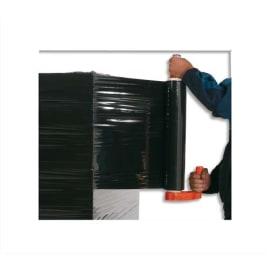 Film étirable manuel en polyéthylène CAST tricouche 17microns L300 m x H450 mm Noir opaque photo du produit