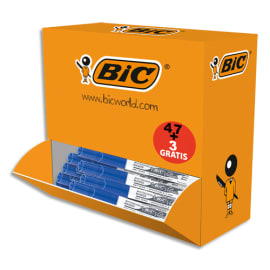 BIC Pack de 47 Effaceurs réécriveurs +3 gratuits, corps plastique Blanc Bleu, pointe ogive moyenne 4,5mm photo du produit
