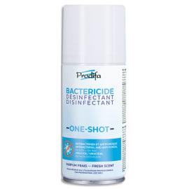 PRODIFA Aérosol 150 ml auto percutant bactéricide fongicide virucide pour le traitement de zones de 30m3 photo du produit