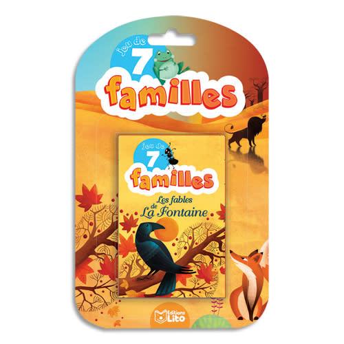 LITO DIFFUSION Jeu de cartes des 7 familles thème les fables de La Fontaine photo du produit Principale L