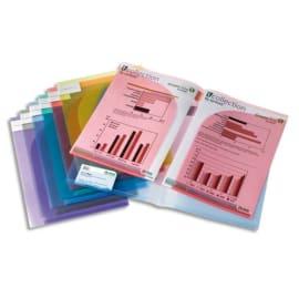 TARIFOLD Sachet de 12 pochettes de présentation TCollection PP 20/100e A4/A3 coloris assortis photo du produit