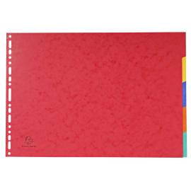 EXACOMPTA Jeu d'intercalaires 5 positions en carte lustrée 5/10e format A3 400g photo du produit