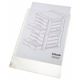 ESSELTE Sachet de 50 pochettes perforées A3 portrait en polypropylène 8.5/100eme grainé photo du produit