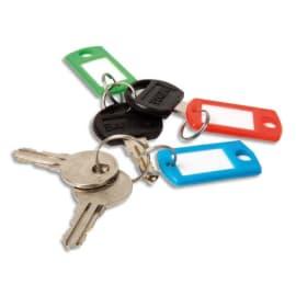PAVO Boîte de 20 portes clés avec anneaux - Dimensions L x H x P cm coloris assortis photo du produit