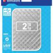 VERBATIM Disque dur 2,5 USB 3.0 Store'N'Go Style 2To Gris 53198 photo du produit
