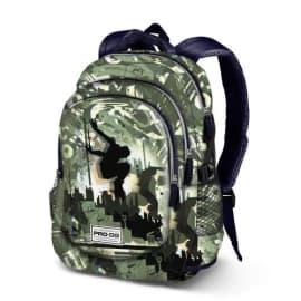 Sac à dos running, 2 poches centrales et 1 poche devant avec zip, dos renforcé. Dims : 30x44x17cm. photo du produit