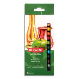 DERWENT ACADEMY Set de 12 pastels à l'huile, couleurs assorties photo du produit