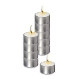Sachet de 10 bougies chauffe plat blanche longue durée photo du produit