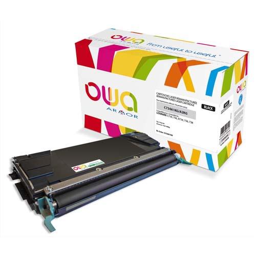 OWA Toner compatible LEXMARK Noir C734A2KG K15881OW photo du produit Principale L